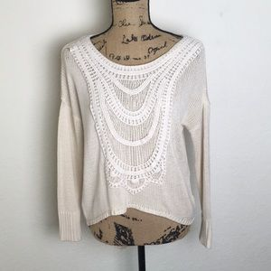 Sweaters - Ivory And Cream Sweater
